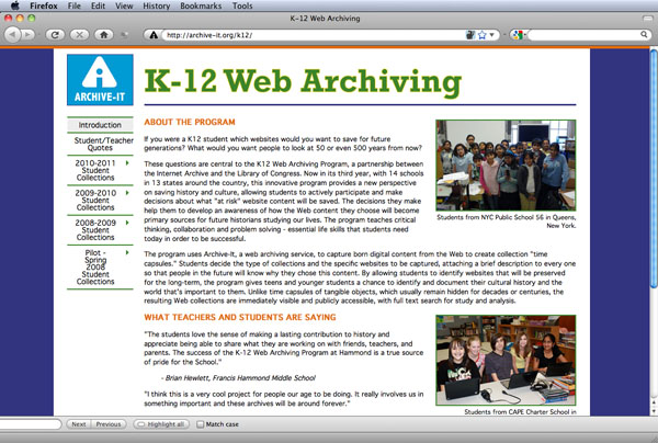 K12 home page