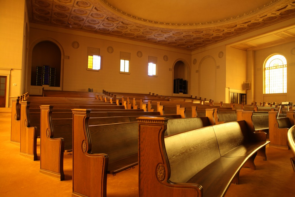 Pews, photo by Jason Scott