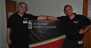 Brewster Kahle and Jordan Modell, at our grand opening celebration November 2012.