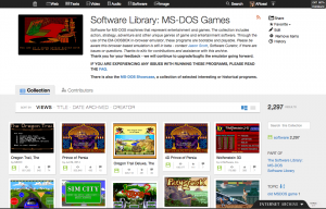 A look at the Internet Archive's software library in the new user interface.