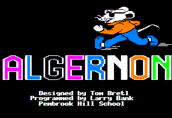 Algernon title screen