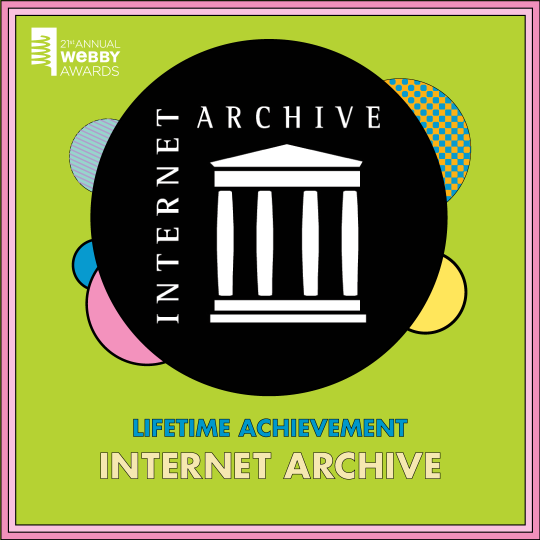 Internet Archive wins Webby award