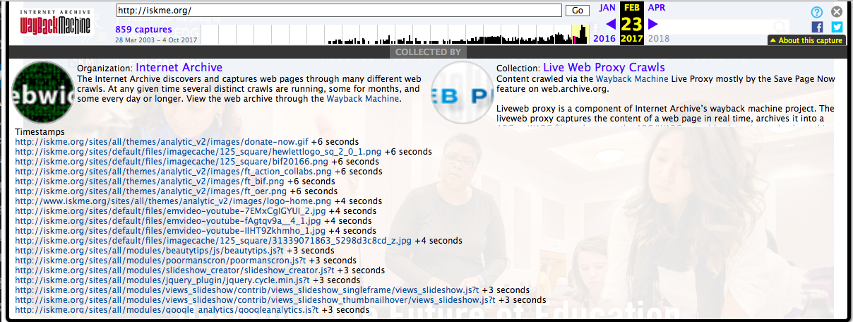 Wayback Machine Playback… now ...