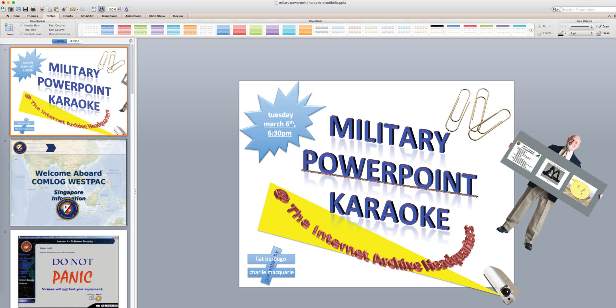 Military Industrial Powerpoint Complex Karaoke! — Tuesday