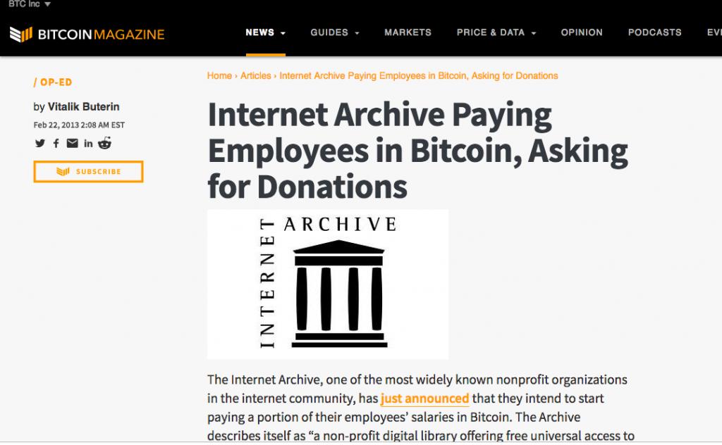 5dacb788431 Bitcoin Magazine Op-Ed by Vitalik Buterin from February 22