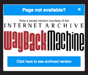 The Wayback Machine browser extension