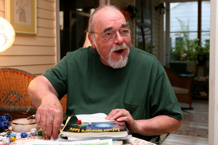 Gary Gygax playing a game of D&D
