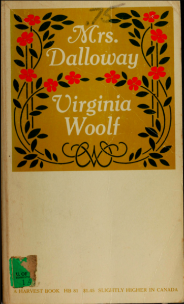 Book cover: Mrs. Dalloway by Virginia Woolf